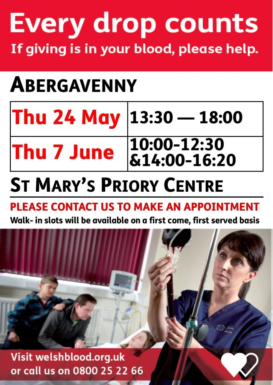 Abergavenny May&JuneBloodDonations