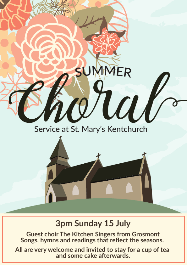 Summer Choral Service poster - Copy
