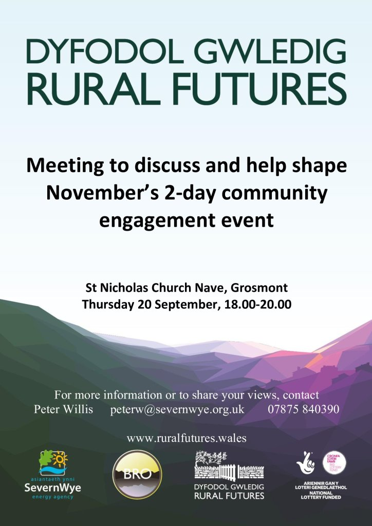 Meeting to discuss and help shape the Rural Futures community engagement event